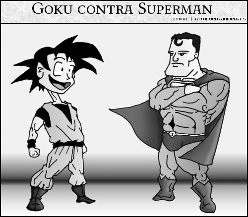 Goku contra Superman, tira cómica
