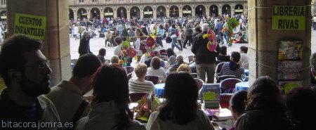 Día internacional del libro, Plaza Mayor de Salamanca